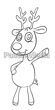 a reindeer sketch