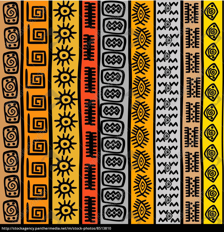 nahtlose muster mit ethnischen afrikanischen motiven stock photo 8513810 bildagentur. Black Bedroom Furniture Sets. Home Design Ideas
