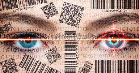 datenschutz barcode face