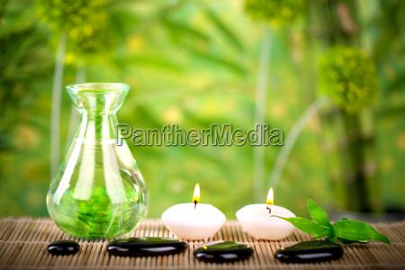 wellnesskonzept in natuerlicher umgebung