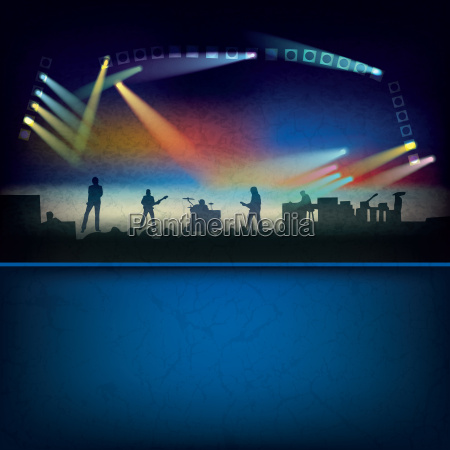 abstract background with music stage