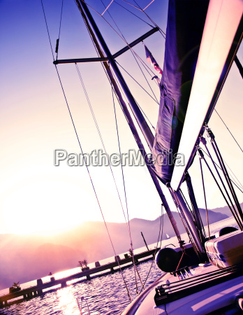 sailboat on sunset