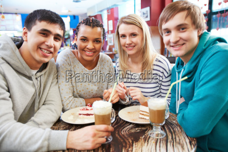 gathered in cafe