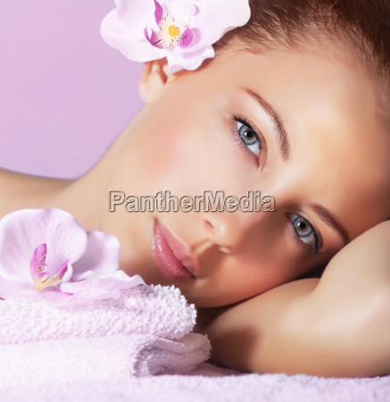 girl enjoying dayspa