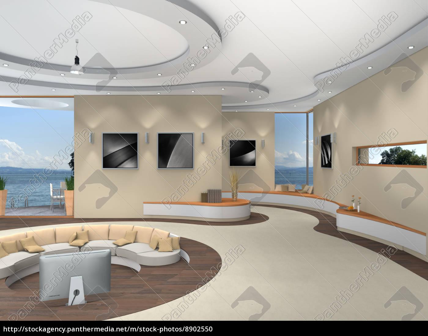 futuristische innenarchitektur - stock photo - #8902550 ... - Weisse Wohnung Futuristisch Innendesign