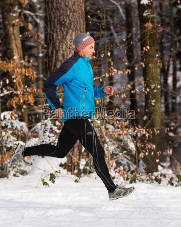 jogger im winter