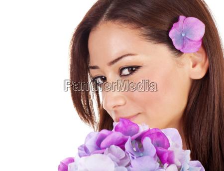 pretty female in spa salon