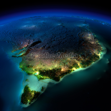 night earth part of australia tasmania
