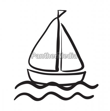 a ship sketch