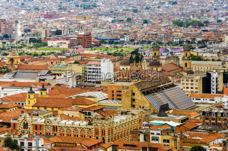 la candelaria historic neighborhood in bogota