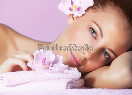 female in spa salon