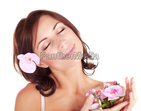 woman enjoying dayspa