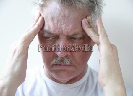 temple headache in older man
