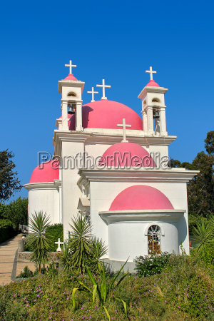 vertical image of greek orthodox church