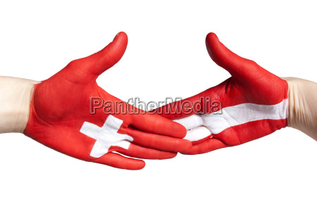 swiss austrian handshake