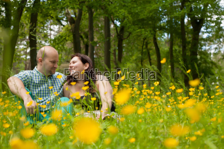 sweet couple and buttercups