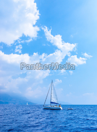 sail yacht in the sea