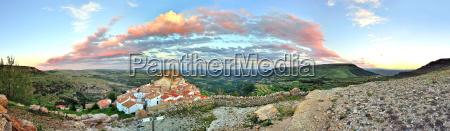 sunset, landschaft, blick, auf, die, berge - 9666992