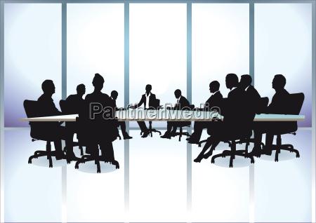 gruppe von geschaeftsleuten in einer sitzung