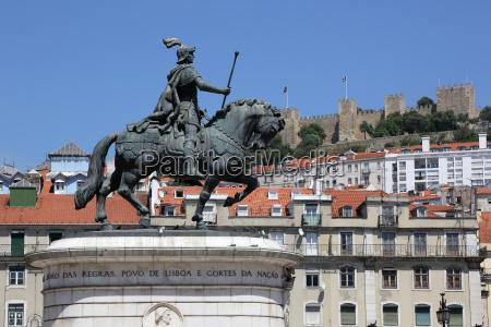 lissabon portugal rossio praca da figueira