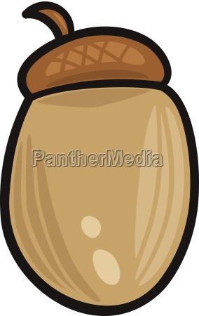 acorn clip art cartoon illustration