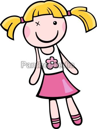 doll clip art cartoon illustration
