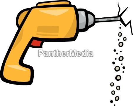drill clip art cartoon illustration