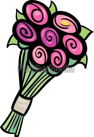 flowers clip art cartoon illustration