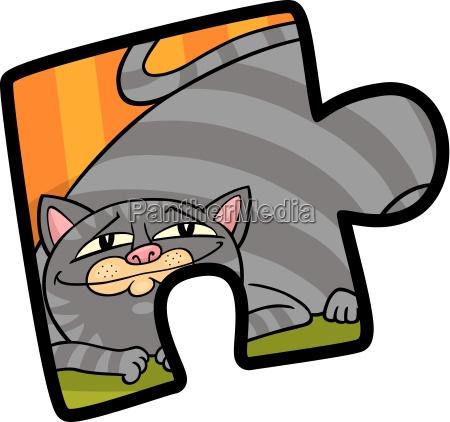 jigsaw puzzle clip art cartoon illustration