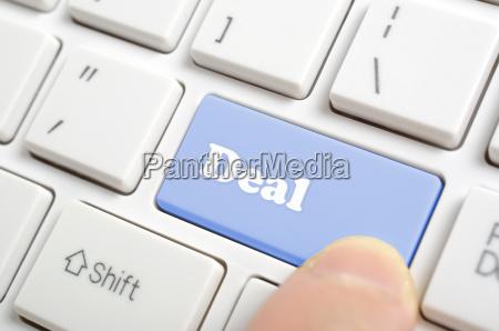 pressing deal key on keyboard
