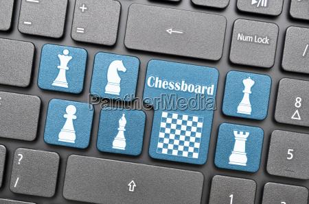 chessboard on keyboard