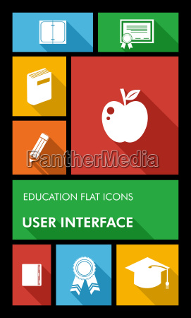 colorful back to school user interface
