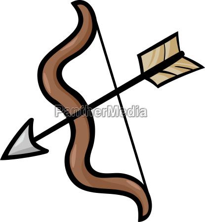 bow and arrow clip art cartoon