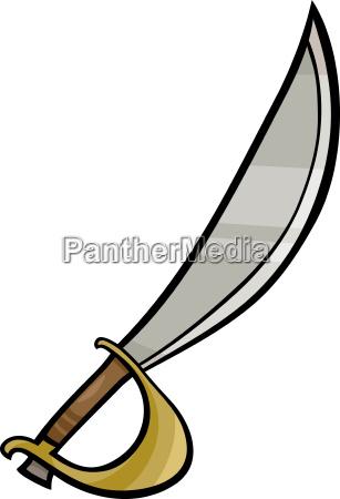 sabre clip art cartoon illustration