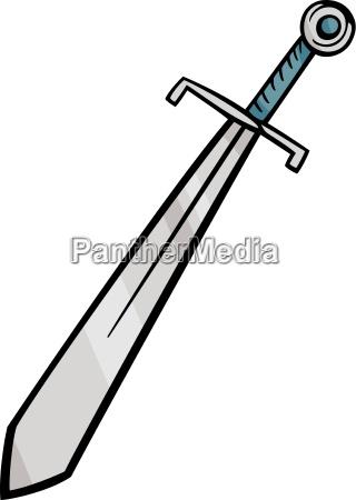 sword clip art cartoon illustration