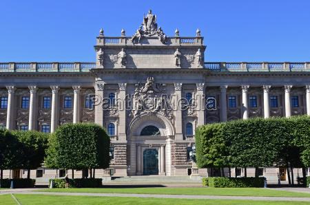 reichstagsgebaeude stockholm