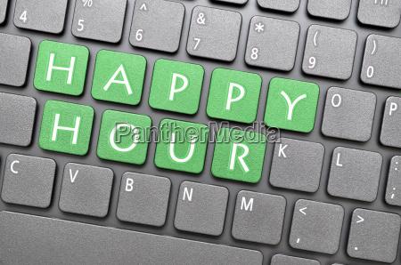 green happy hour key on keyboard