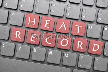 heat record on keyboard