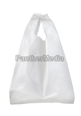 weisse plastiktuete