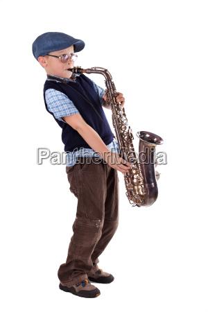 saxophonespieler retro