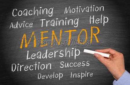 mentor business konzept