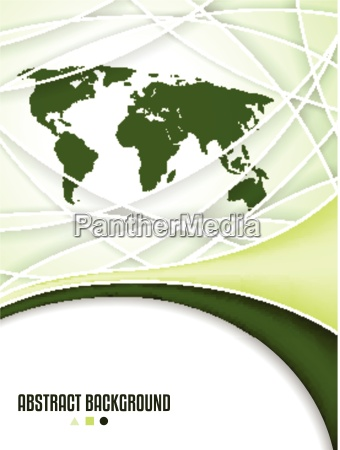 company brochure design with world map