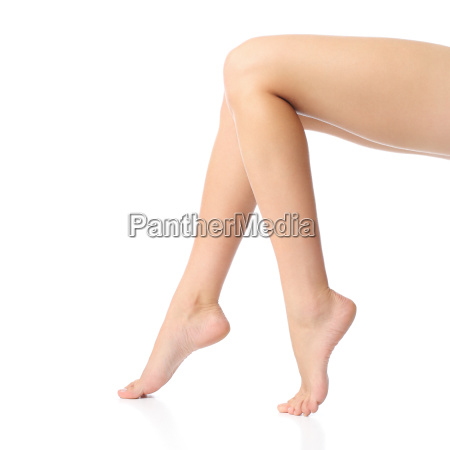 beautiful sitting woman smooth waxing legs