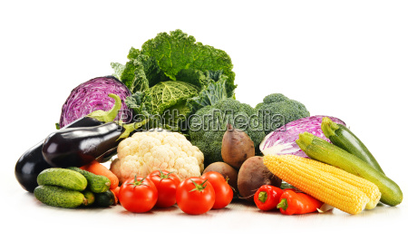 composition with variety of fresh raw