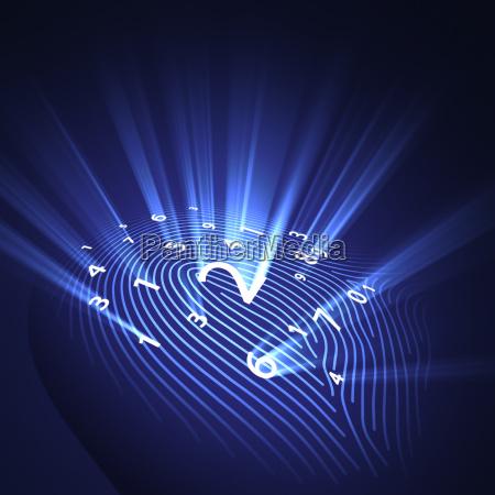 fingerabdruck sicherheits digital