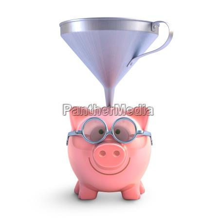 piggy bank funnel