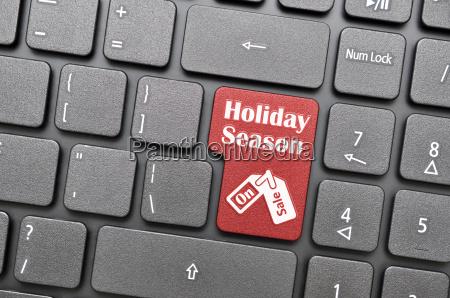 hoilday season key on keyboard