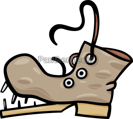old shoe or boot cartoon clip