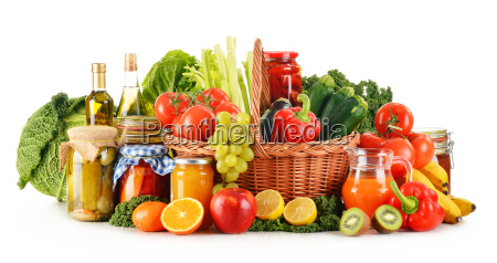 composition with variety organic vegetables and
