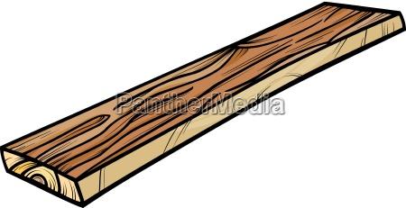 plank or board cartoon clip art